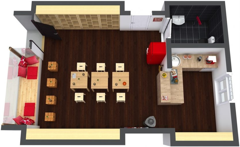 Image result for layout of a small coffee shop